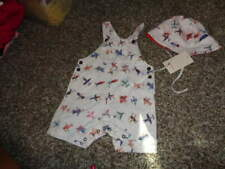 NWT NEW CATIMINI 46 12-18 HAT AND 18M 18 MONTHS AIRPLANE SHORTALLS