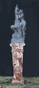 French Marble Pedestal Stand Column Table