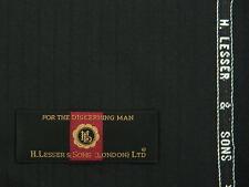 H.LESSER & SONS, VINTAGE BLACK SELFSTRIPE, WOOL/CASHMERE, 3MTRS