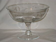 Princess House Heritage Handblown Handcut Compote Dish #444 New in Box