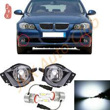 Set LED Front Bumper Lamps Fog Light k For 2006-08 BMW E90 325i 328i 330i 335i