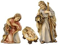 "6"" Rainell Nativity by PEMA Woodcarvings - Holy Family - Hand Painted and Carved"