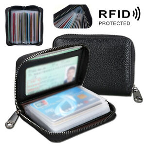 Mini Leather 22 card Wallet Business Case Purse Credit Card Holder RFID Blocking
