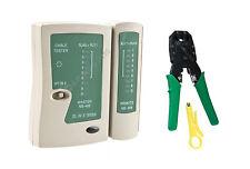 Kit réseau CAT5 CAT6 wire cable tester test & rj45 ethernet Sertissage Sertir Outil