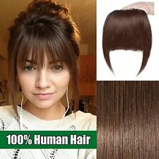 Clip in Bangs Fringe Human Hair Extensions One Piece 100 Real Remy Hairpiece wi