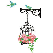 NEW TREE BIRD CAGE COLORFUL BIRDS WALL STICKER DECAL VINYL ART HOME DECORATION