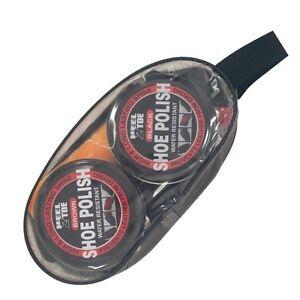 Travel Size Complete Shoe Care Boot Polishing Polish Cleaning Kit Set Brushes UK
