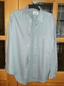 "Van Heusen Authentic Shirt Wear Green & Grey Check Long Sleeve Shirt  Size 15.5"""