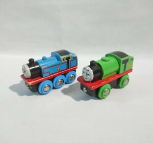 Wooden Railway Train - Genuine BRIO Percy & Thomas Duo - ELC Learning Curve