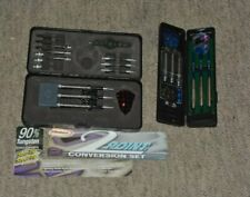 Halex twin pack 6 dart set multiple tip multiple flights in cases 90% tungsten