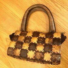 Coconut Shell Square Pattern Purse Bag