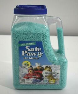 Safe Paw Coated Non-Toxc Ice Melter For Dogs & Cats Pet Safe 8 Lb. 3 Oz.
