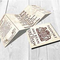 Personalised HANDMADE Travel Wedding Day Invites / Evening Invitation + Envelope
