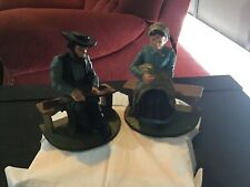 Pair of Vintage Cast Iron Amish book Ends