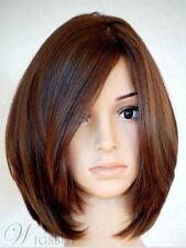 Soft Carefree Natural Medium Straight Bob Hairstyle 100% Human Hair 12 Inches