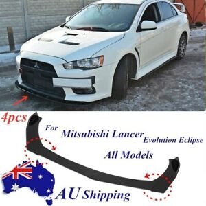 4Pcs Front Bumper Lip Spoiler Splitter For Mitsubishi Lancer Evolution Eclipse