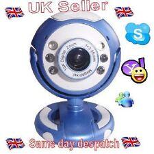 Azul Usb Webcam de alta calidad y resolución, 5g Lente, construido en Micrófono 6 Led En Caja.