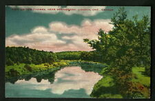 CANADA V.OLD   POSTCARD VIEW ON THE THAMES NEAR SPRINGBANK LONDON ONTARIO.-RARE