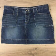 Jag Vintage Blue Denim Mini Skirt Women's Jeans Size 14 W36 L14.5 (AB5)