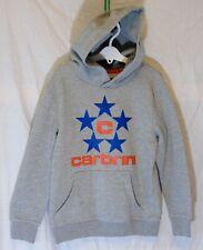 Boys Carbrini Grey Blue Star Logo Overhead Hooded Sweater Hoodie Age 9-10 Years