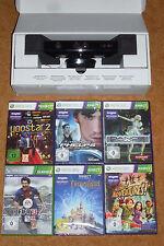 KINECT SENSOR Xbox 360 & 6 SPIELE Neuwertig