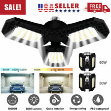 E26 E27 40 60 80W Deformable Led Garage Light Bulb Fixture Ceiling Workshop Lamp