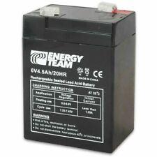 ENERGY TEAM ET6-4,5 Batteria Ermetica al Piombo 4,5 Ah - Nero