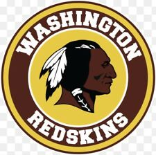 2 Washington Redskins Waterproof Vinyl Stickers 4x4 Car Decal