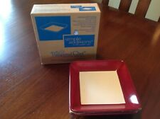 Pampered Chef Simple Additions Small Square Plates Cranberry/White Dinner Serve