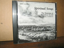 THE MUSICIANS OF MELODIOUS ACCORD CD SPIRITUAL SONGS ALICE PARKER CONDUCTOR