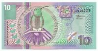 Suriname 10 Gulden Banknote 2000 as pictured New