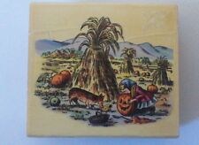 1999 PSX Tasha Tudor ~ PUMPKIN PATCH GIRL & DOG ~Wood Mounted Rubber Stamp RARE!