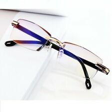 Rimless Reading Glasses Blue Light Blocking Computer Frameless Glasses Reading