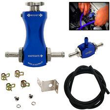 Universal Adjustable Car Manual Turbo Boost Controller Bilateral Valve Kit Blue