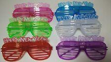 6 Pack of Happy New Years Light Up Shutter Glasses - Blinking Blinder Shades