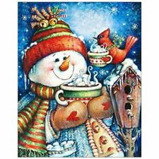 5D Christmas Snowman Diy Diamond Painting Kits Full Drill Rhinestone Wall Decor