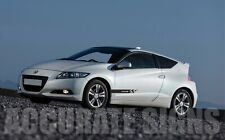 SIDE STRIPES FRO HONDA CR-Z (PAIR) CAR DECALS GRAPHICS ANY COLOUR CRZ