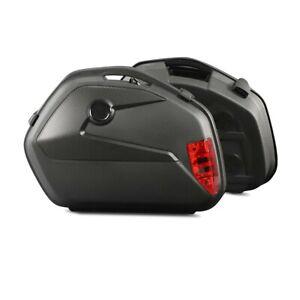 Motorrad Koffer + Kofferträger Seitenkoffer Universal Bagtecs SC22 gebraucht