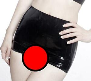 MicheleX - Black Latex Rubber Open Crotch Hotpants (UK) S M L XL. Brand New