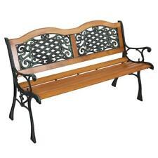 "50"" Patio Furniture Porch Garden Bench Cast Iron Outdoor Chair Us"