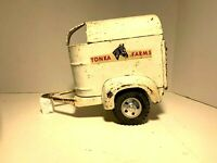 Vintage Pressed Steel Tonka Farms Horse Trailer