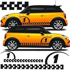 BMW Mini Cooper Worx John Cooper S D checkered stripes decals stickers graphics