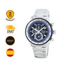 Seiko casual Watch Cronógrafo plata de los hombres Snac85p1