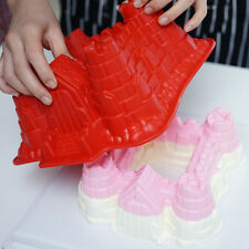 Kid Castle Silicone Cake Mold Muffin Pan Pastry Bakeware Baking Tray Mould Tools