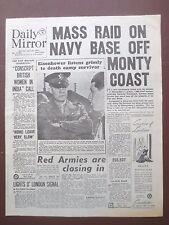WW2 Wartime Newspaper Daily Mirror April 19 1945 Eisenhower Buchenwald Holocaust