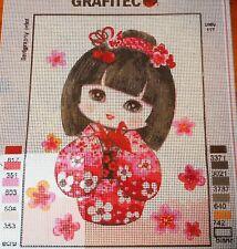 SWEET GEISHA ORIGAMI - Tapestry/Needlepoint to Stitch (NEW) by GRAFITEC