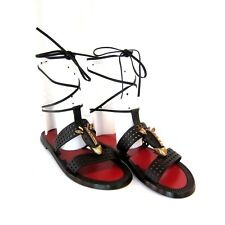 8f3e08269f7 J-2481153 Neuf Valentino Garavani Noir à Lacets Chaussures Sandales Us 6  Marqué