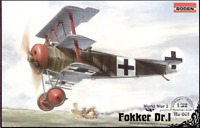 Roden 601 - Fokker Dri German Fighter-triplane WWI - 1/32 Scale Model Kit 225 mm