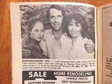 1978 Cleveland Press TV(CYBILL SHEPHERD/CHARLES FRANK/PHYLLIS GEORGE/TOM CHAPIN)