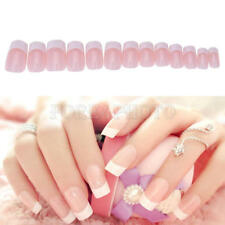 24pcs/set New Manicure French Long Full 3D False Fake Nails Art Tips Sticker Hot